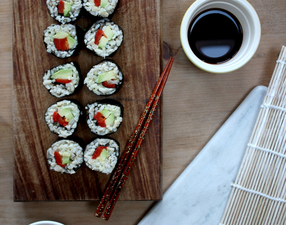 Vegan Brown Rice Sushi